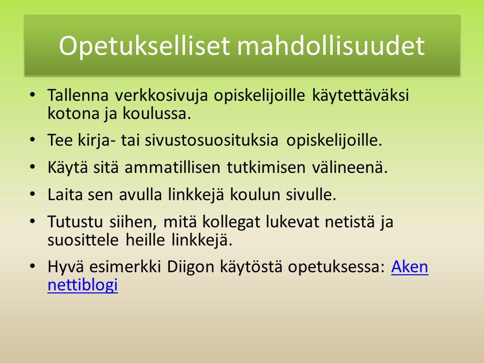 Opetukselliset mahdollisuudet Tallenna verkkosivuja opiskelijoille käytettäväksi kotona ja koulussa.