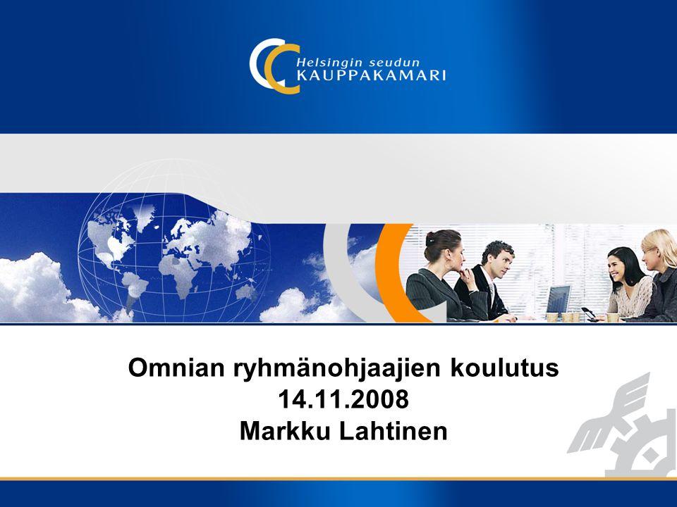 Omnian ryhmänohjaajien koulutus 14.11.2008 Markku Lahtinen