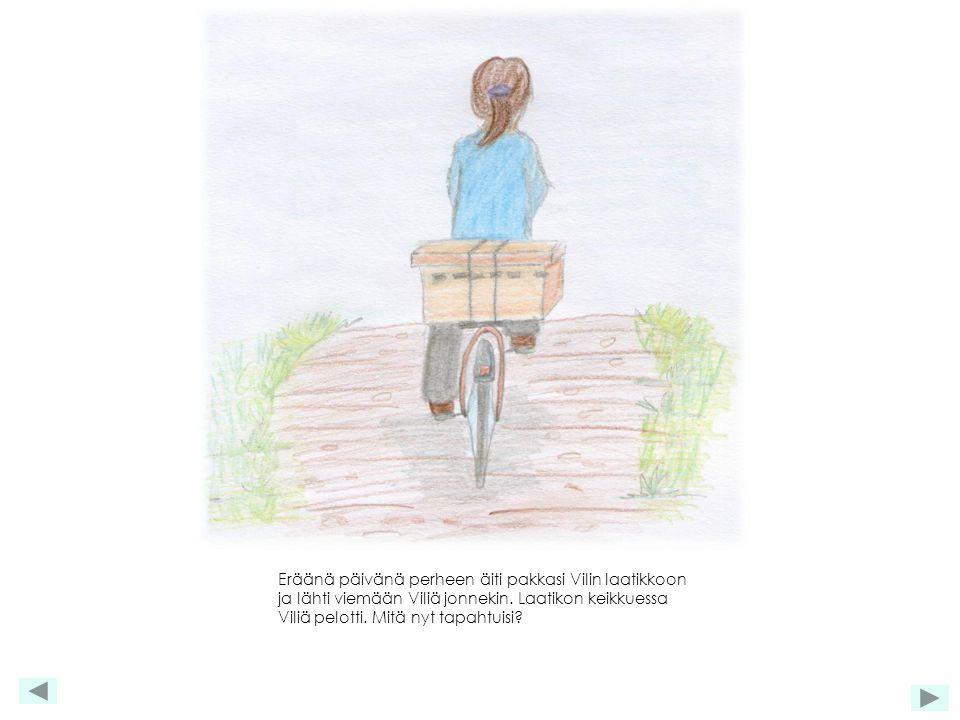 Eräänä päivänä perheen äiti pakkasi Vilin laatikkoon ja lähti viemään Viliä jonnekin.