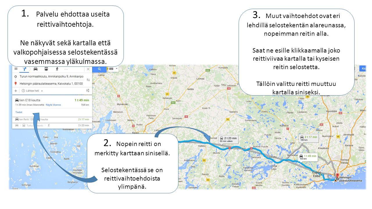 Reittihaku Google Maps Palvelussa Ppt Lataa
